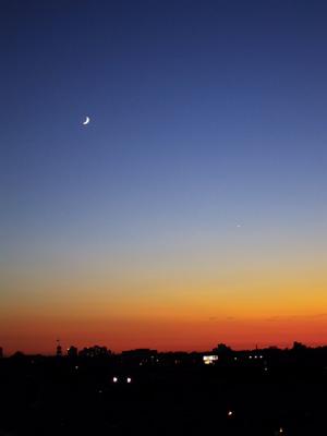 coucher de soleil et etoile du berger