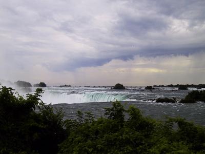 Haut des chutes du Niagara
