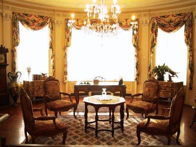 Salon pour la famille royale de passage