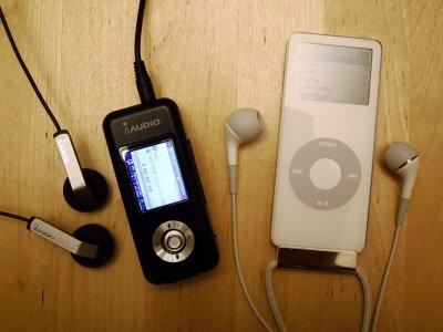 iAudio U3 contre iPod Nano