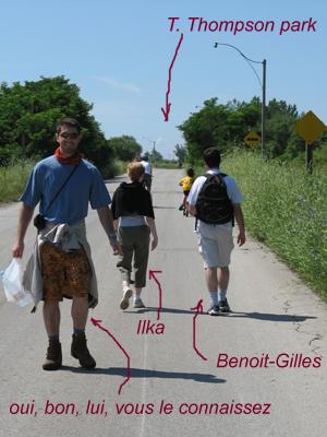 BG, Ilka et le Gwe au départ