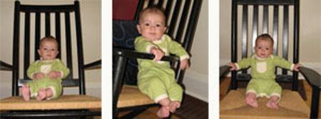 Tout petit das le grand fauteuil